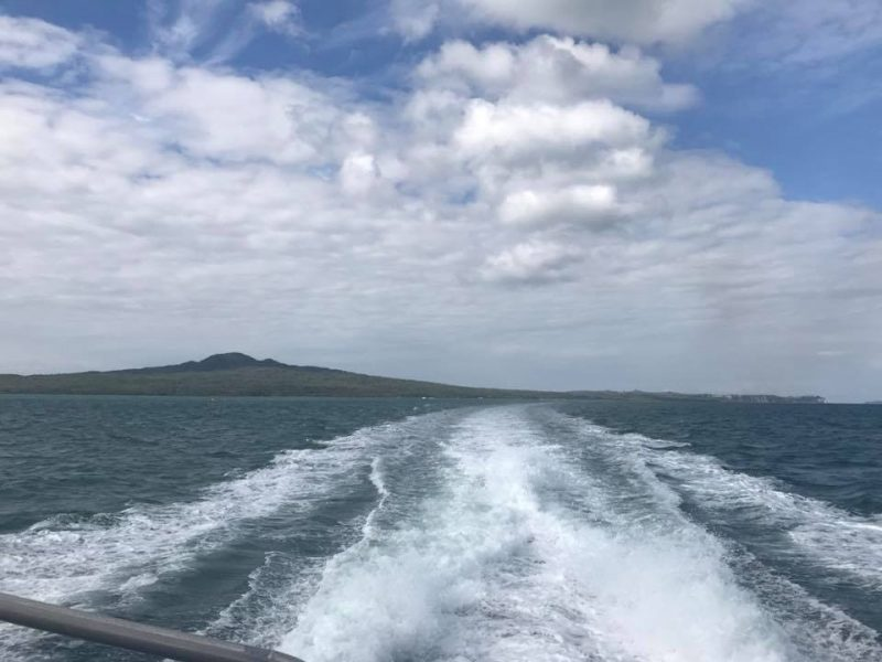 View of Rangitoto from the ferry