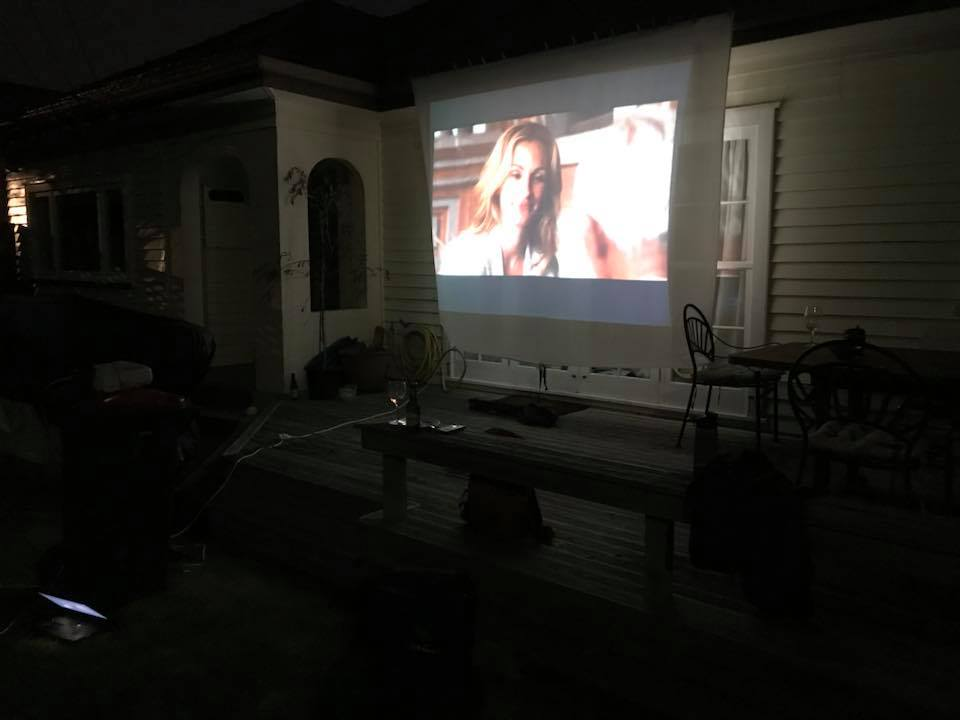 Outdoor movie theatre, Auckland