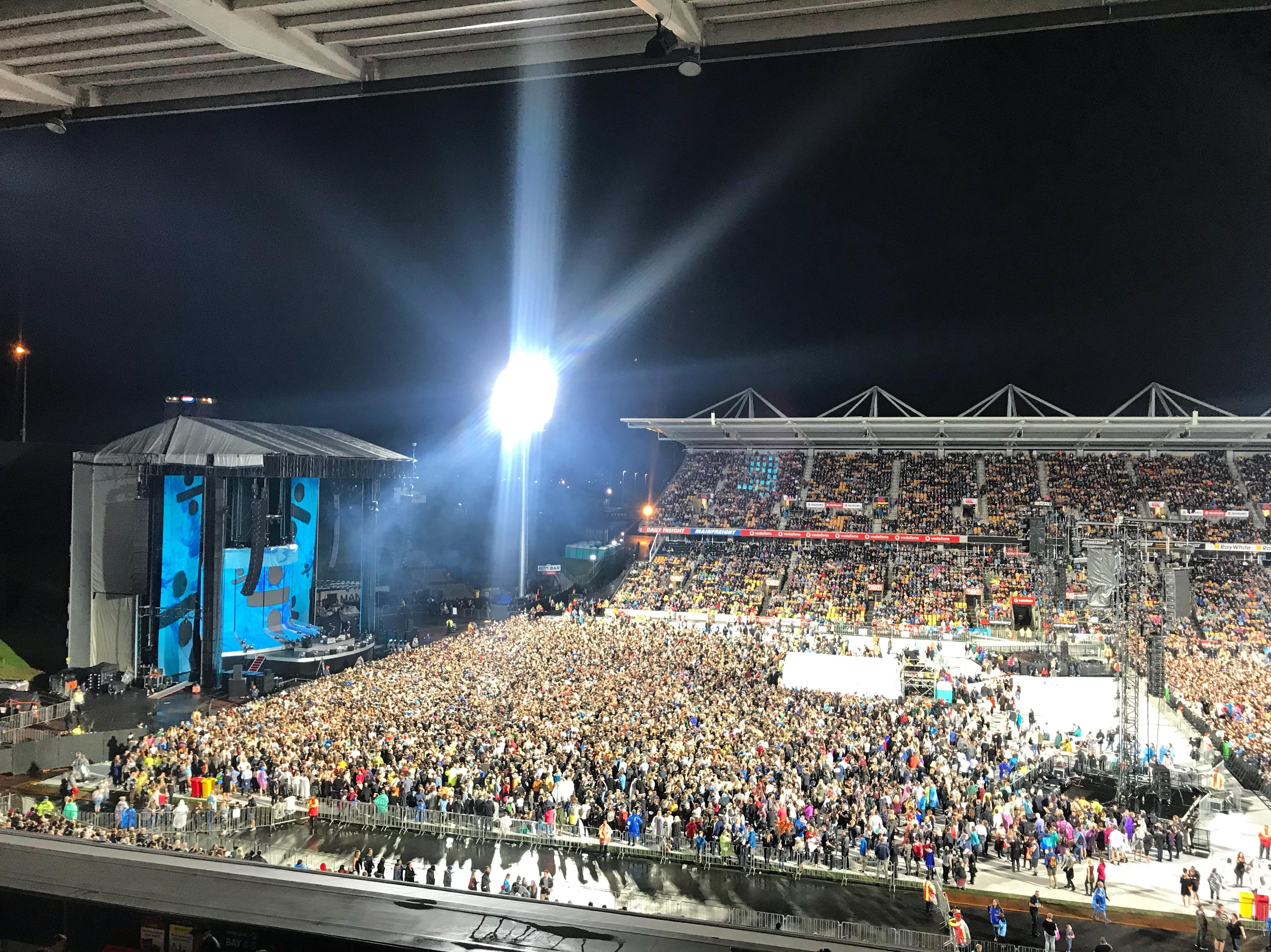 Ed Sheeran, Mount Smart Stadium, Auckland