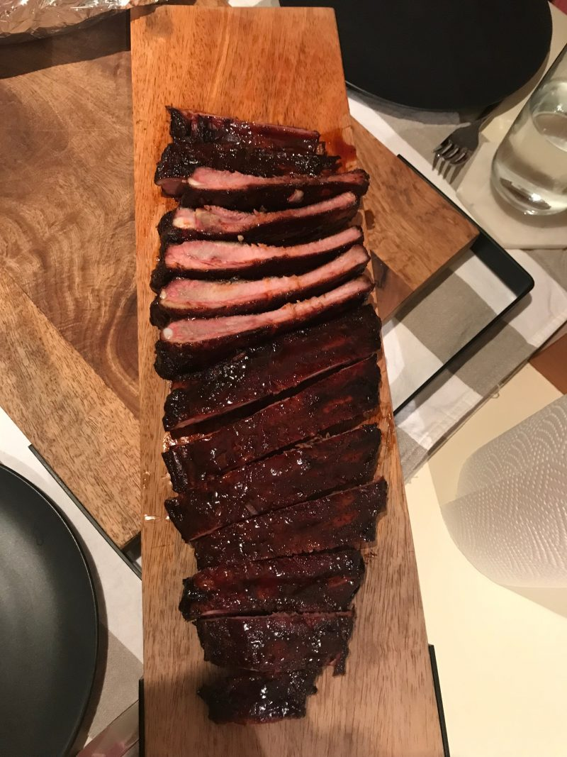 Smoked, slow cooked ribs