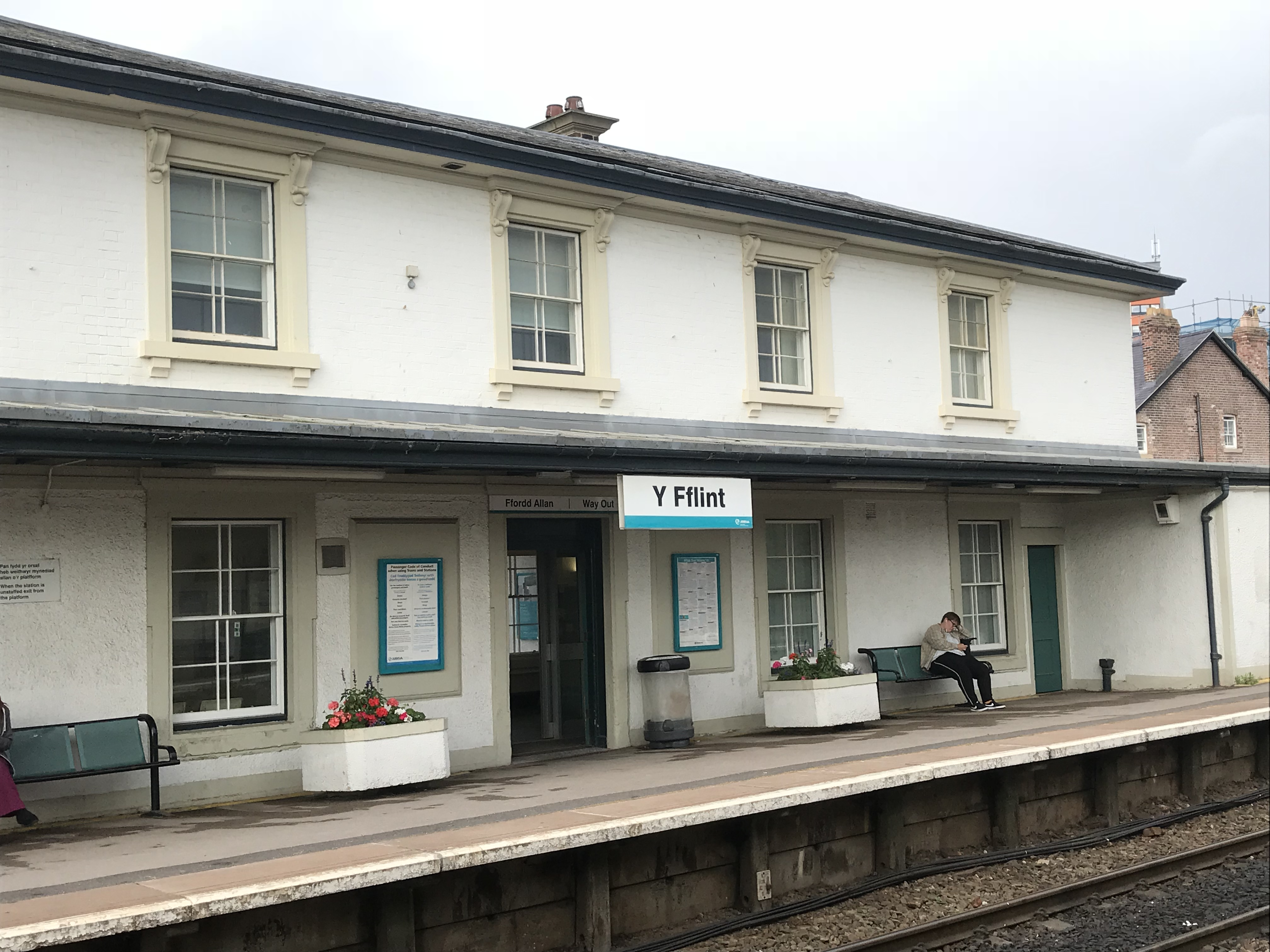 Flint Train Station, Flintshire, North Wales