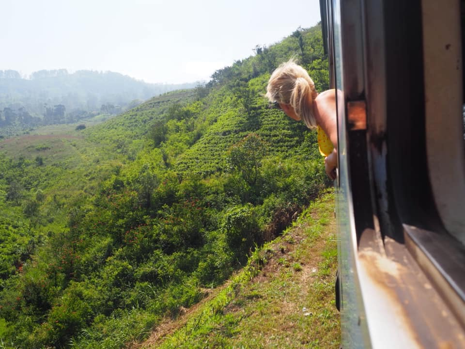 Ella to Nuwara Eliya train ride, Sri Lanka