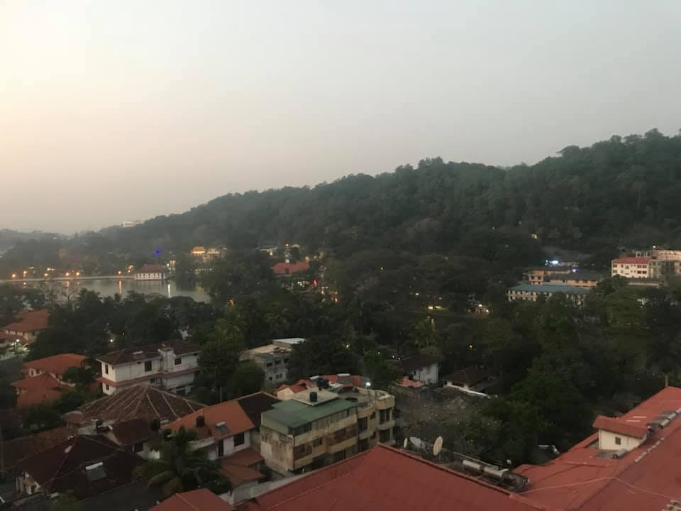 View from OZO, Kandy, Sri Lanka